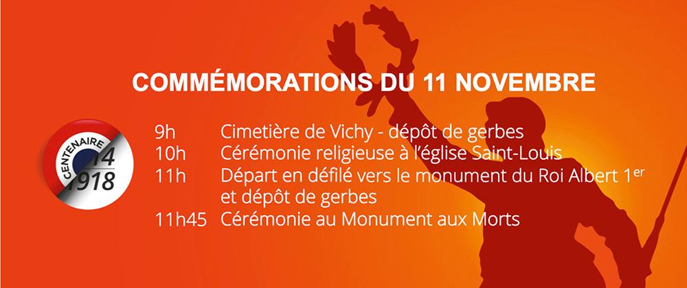 Commémorations du 11 novembre à Vichy